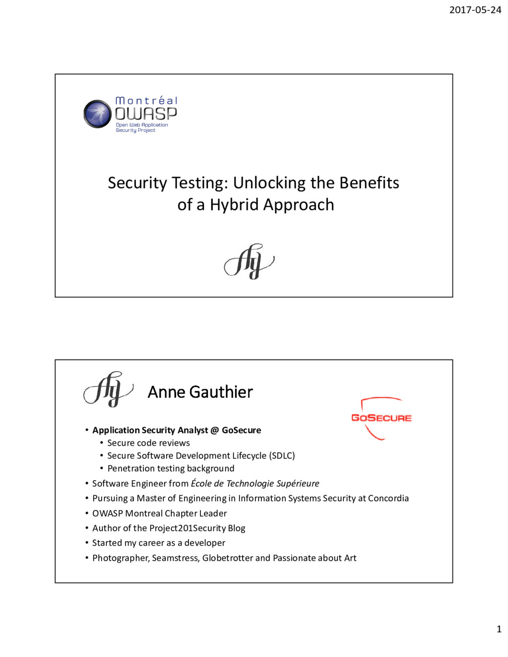 2017-05-24 1 Security Testing: Unlocking the Be...