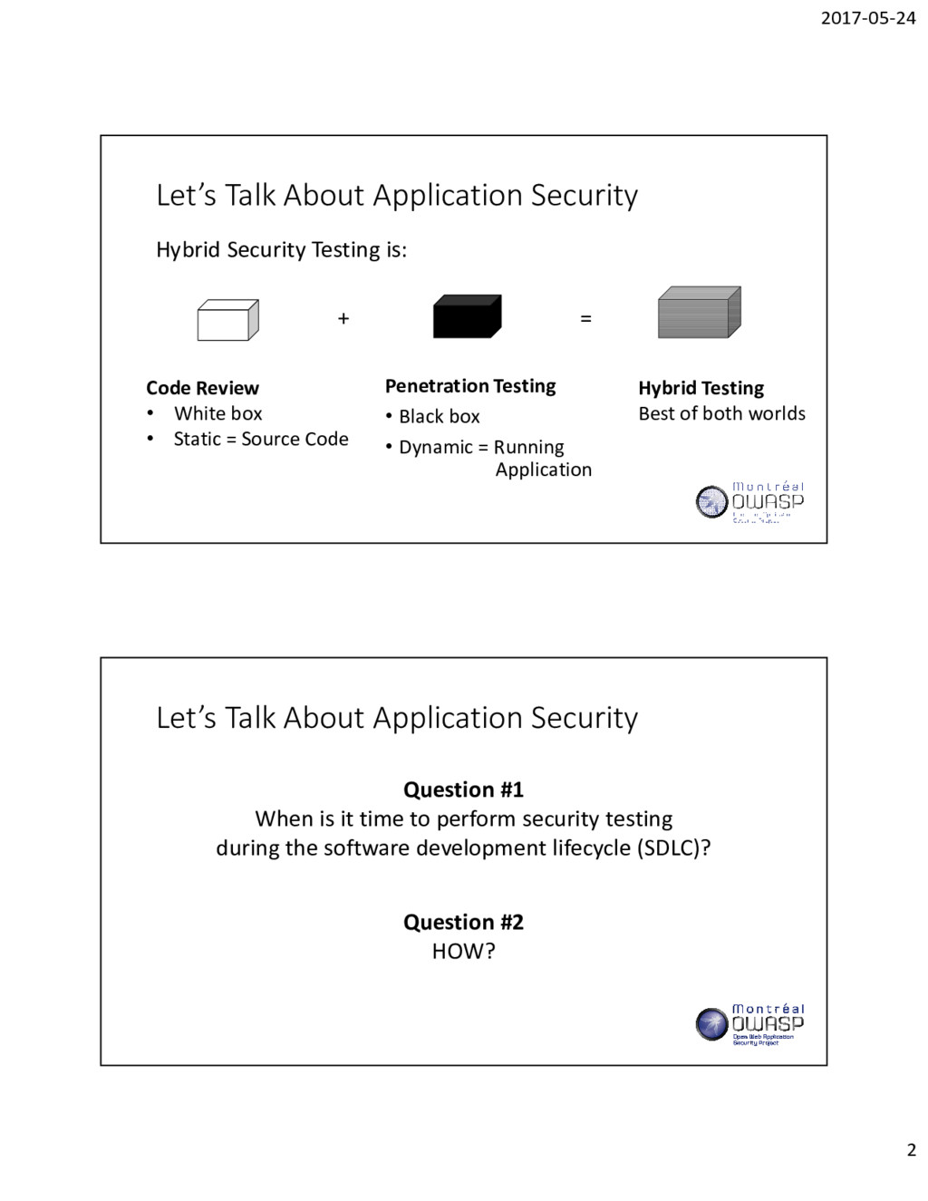 2017-05-24 2 Let's Talk About Application Secur...
