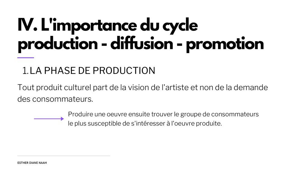 Tout produit culturel part de la vision de l'ar...