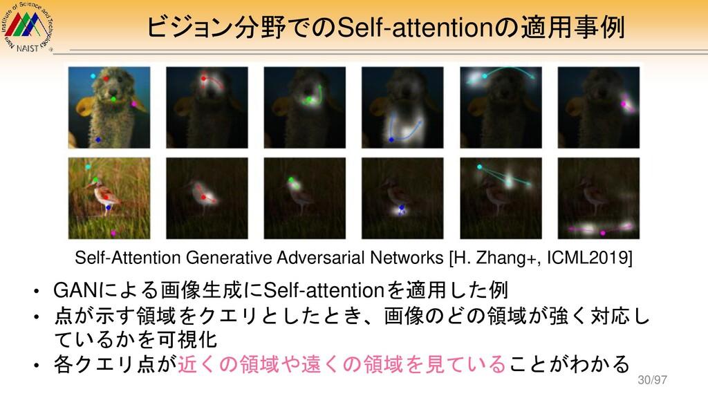 ビジョン分野でのSelf-attentionの適用事例 Self-Attention Gene...
