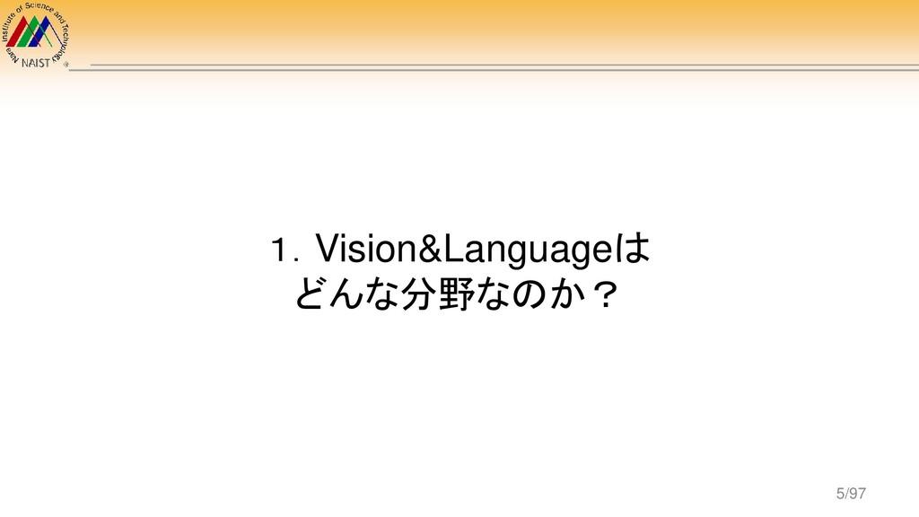1.Vision&Languageは どんな分野なのか? 5/97