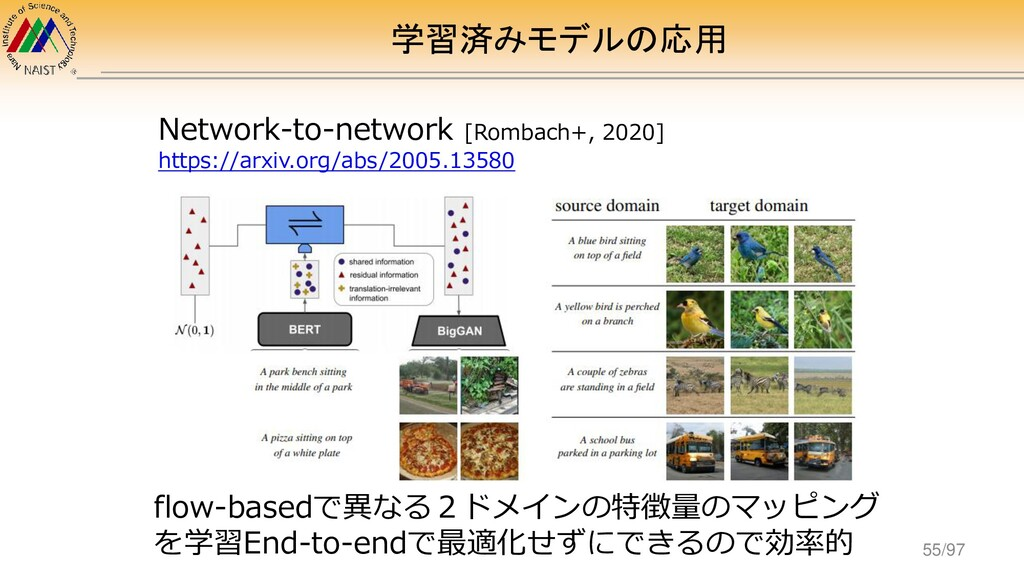 学習済みモデルの応用 Network-to-network [Rombach+, 2020] ...