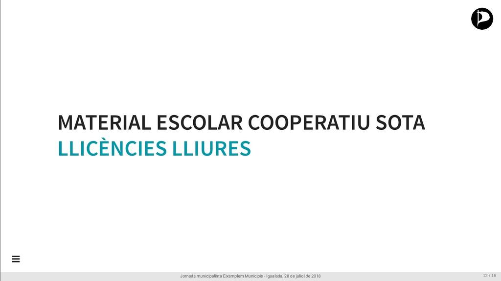 MATERIAL ESCOLAR COOPERATIU SOTA LLICÈNCIES LLI...
