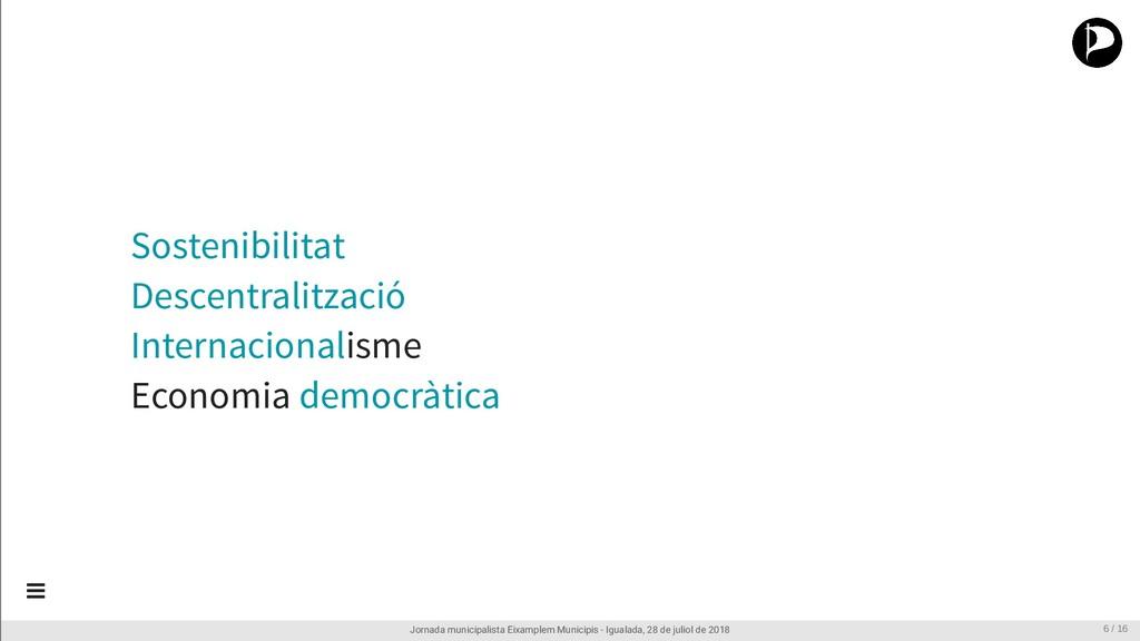 Sostenibilitat Descentralització Internacionali...