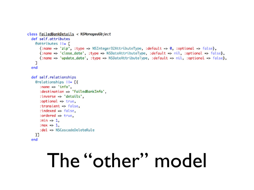 """The """"other"""" model"""
