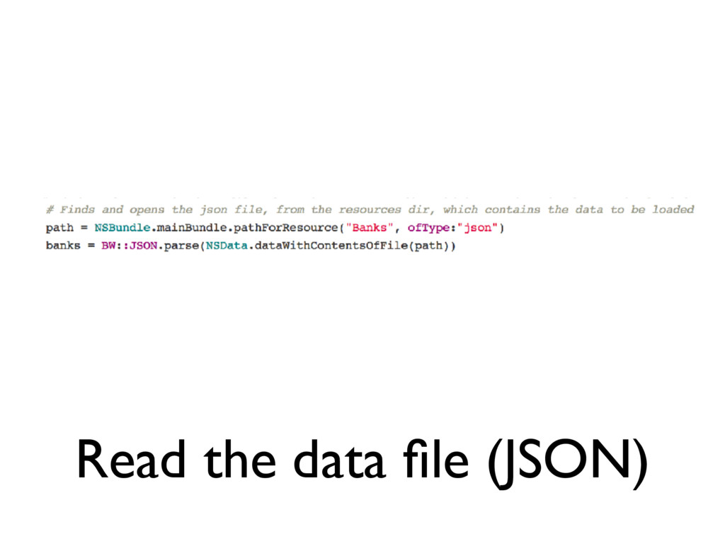 Read the data file (JSON)