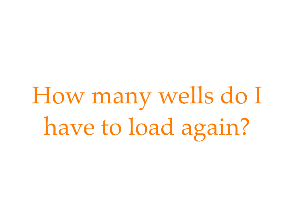 How many wells do I have to load again?