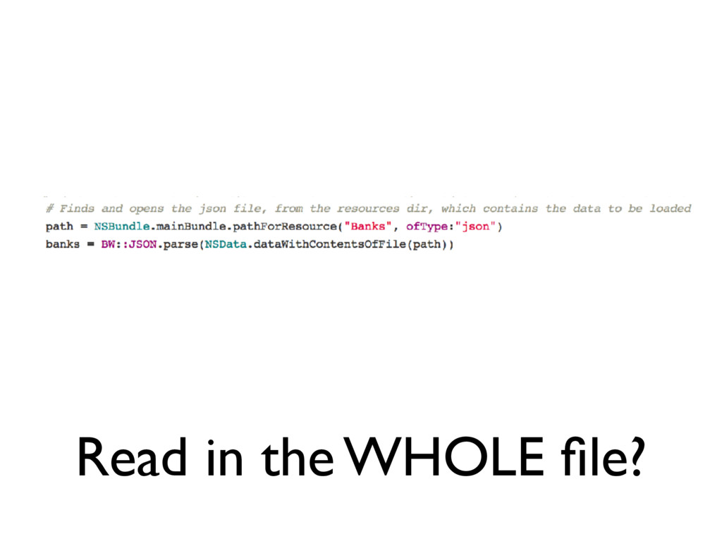 Read in the WHOLE file?