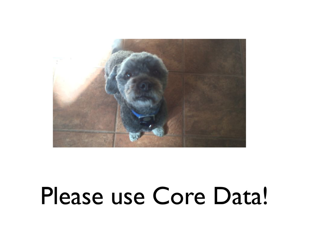 Please use Core Data!
