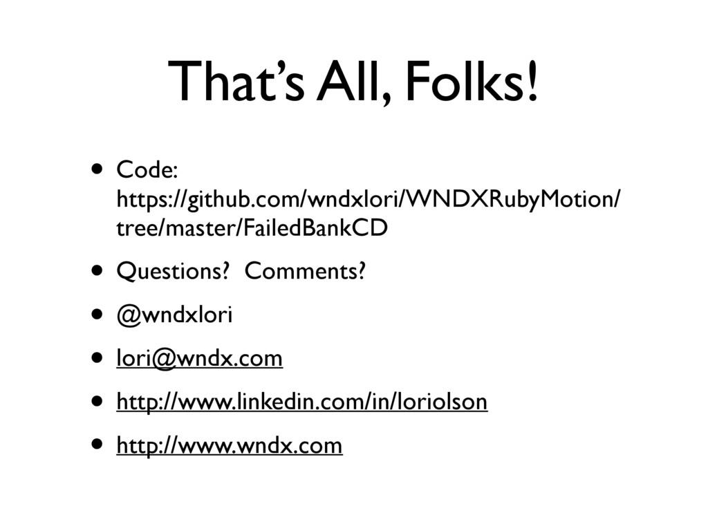 That's All, Folks! • Code:  https://github.com...