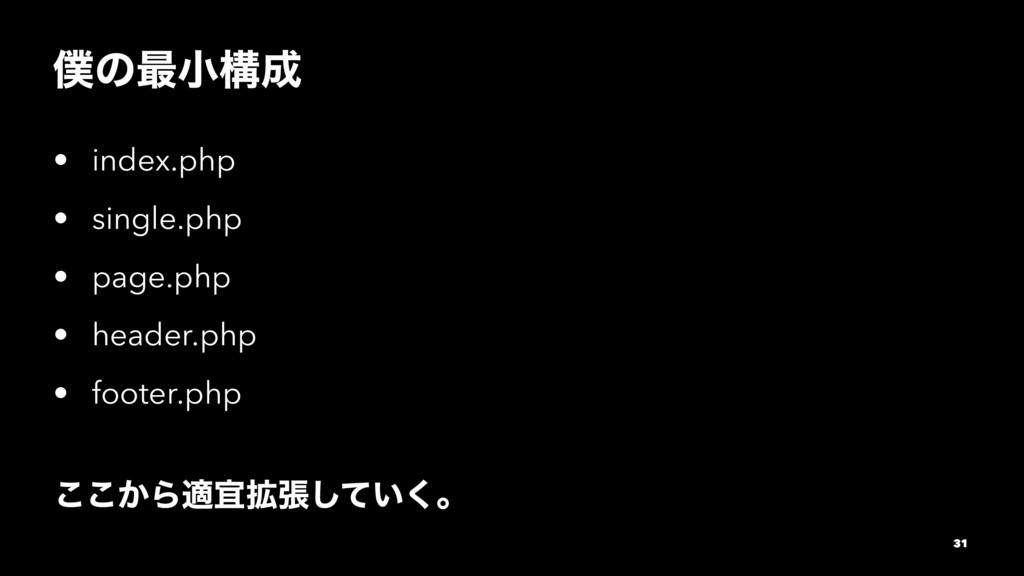 ͷ࠷খߏ • index.php • single.php • page.php • he...