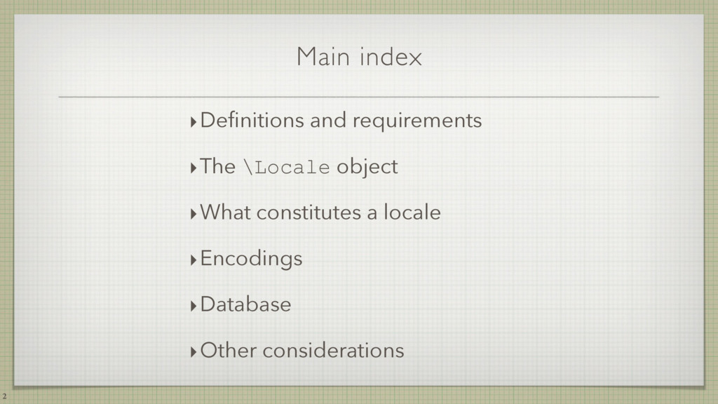 Main index 2 ‣Definitions and requirements ‣The ...