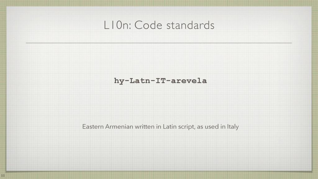 L10n: Code standards hy-Latn-IT-arevela Eastern...
