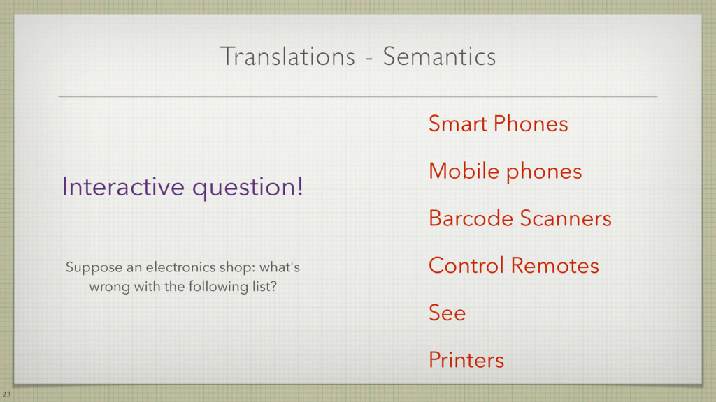 Translations - Semantics 23 Smart Phones Mobile...