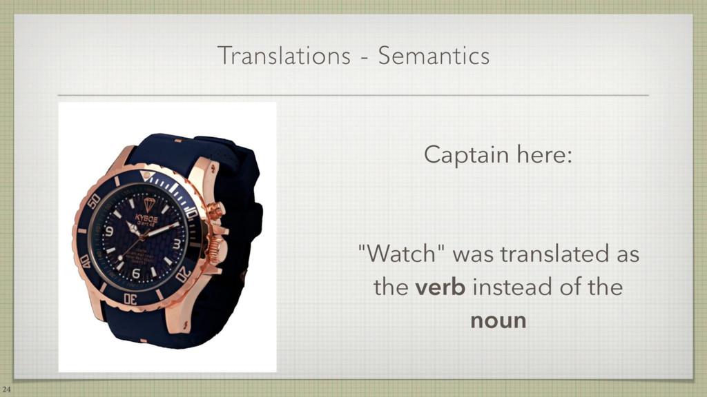 "Translations - Semantics 24 Captain here: ""Watc..."