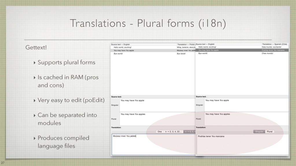 Translations - Plural forms (i18n) 27 Gettext! ...