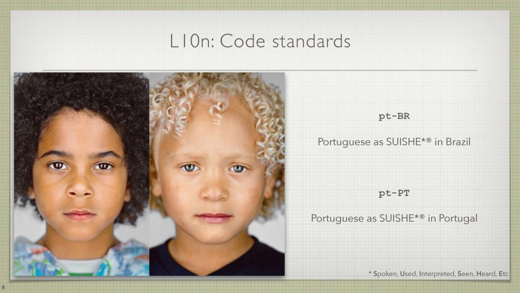 L10n: Code standards 8 * Spoken, Used, Interpre...
