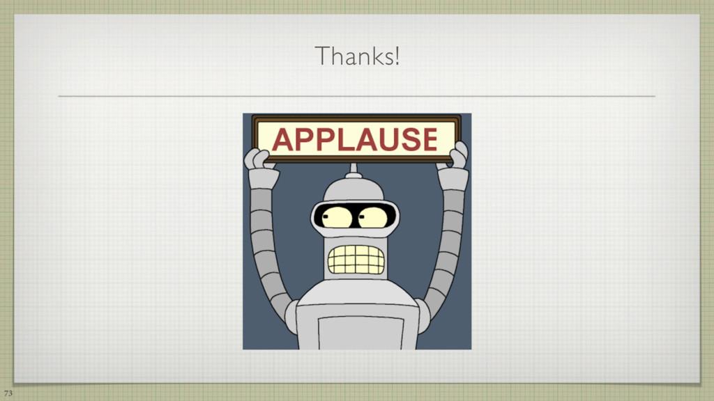 Thanks! 73
