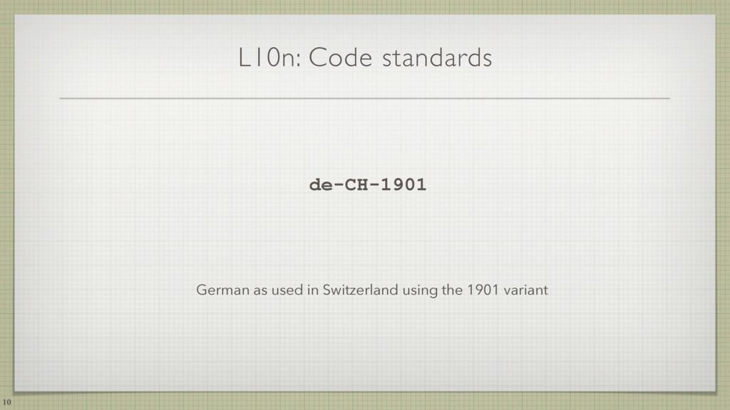 L10n: Code standards de-CH-1901 German as used ...