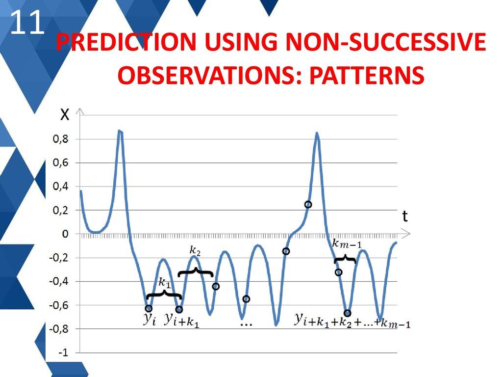 11 PREDICTION USING NON-SUCCESSIVE OBSERVATIONS...