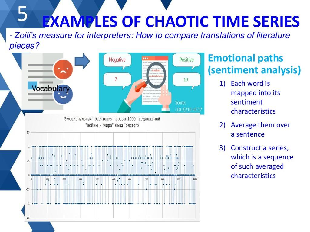 Emotional paths (sentiment analysis) 1) Each wo...