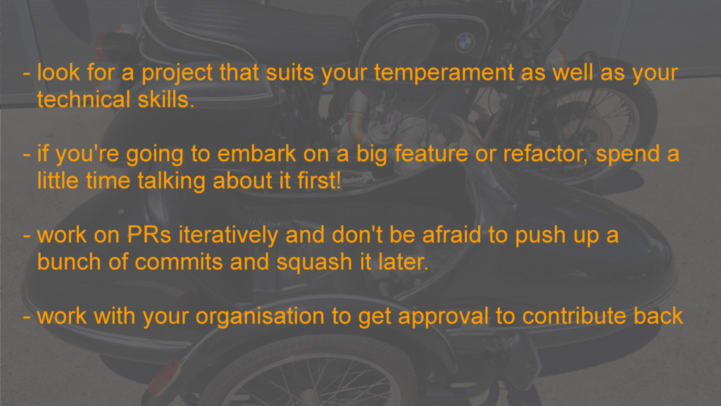- look for a project that suits your temperamen...