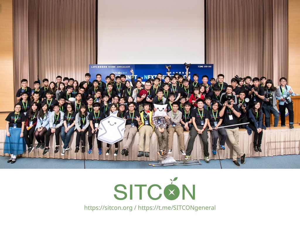 https://sitcon.org / https://t.me/SITCONgeneral