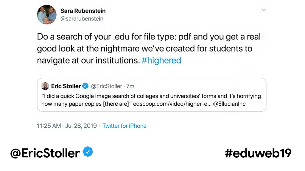 @EricStoller #eduweb19