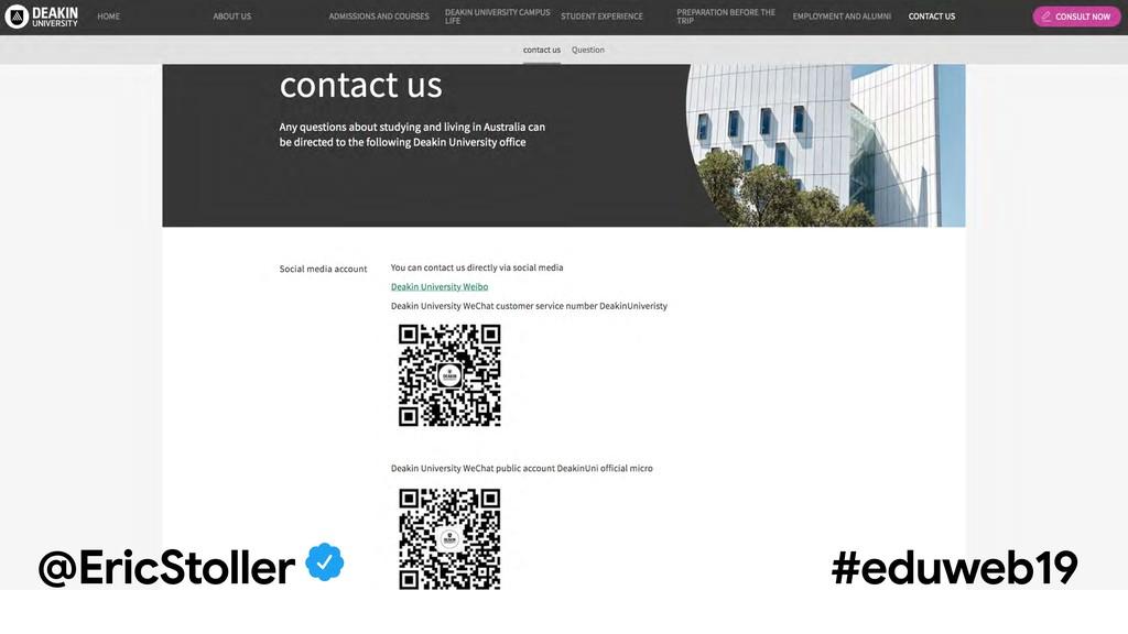 @EricStoller #eduweb19 @EricStoller #eduweb19