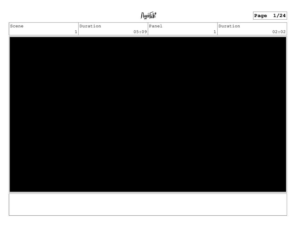 Scene 1 Duration 05:09 Panel 1 Duration 02:02 P...