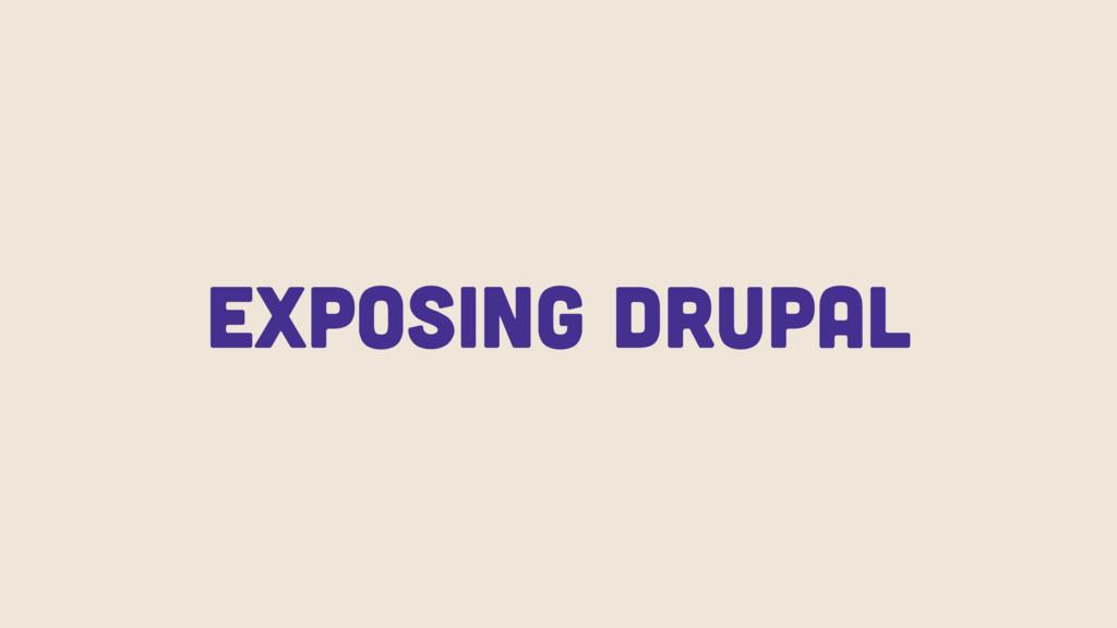 Exposing Drupal