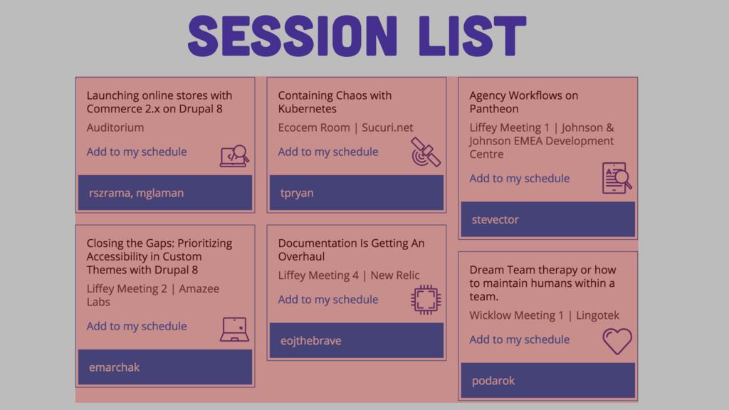 Session List