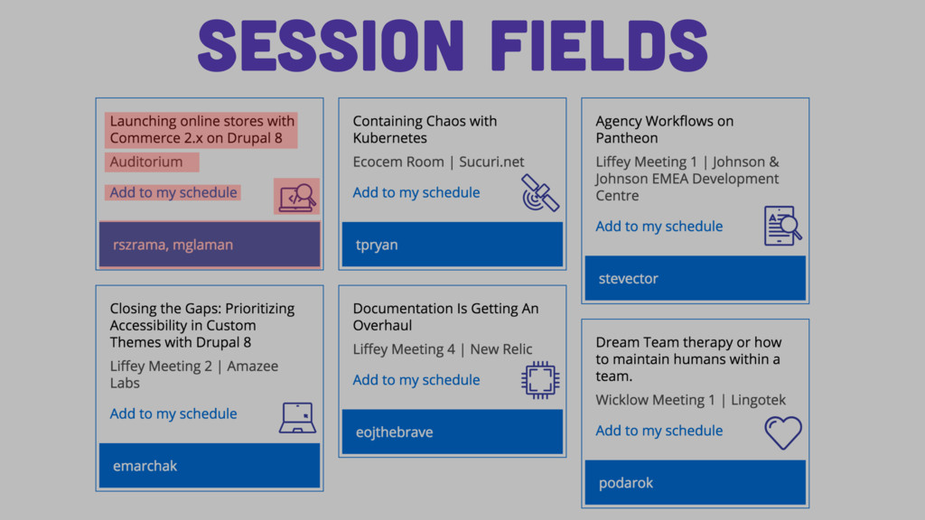 Session Fields