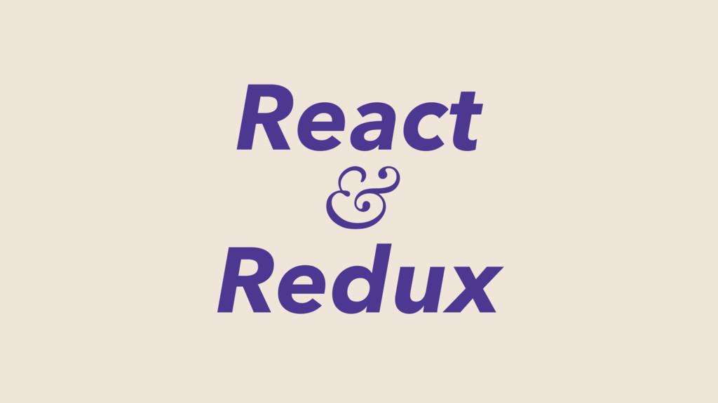 React & Redux