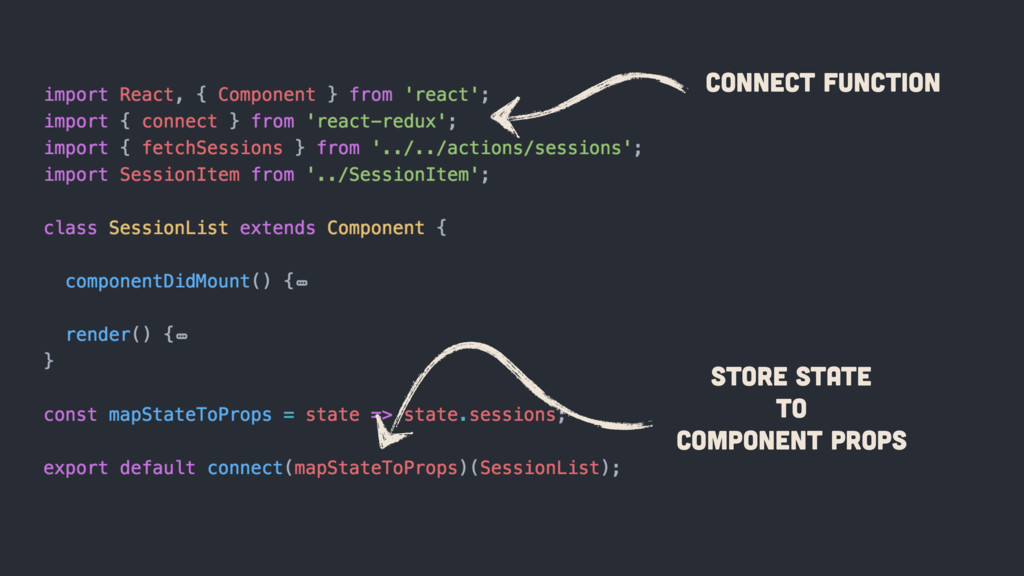 connect Function Store State To Component Props