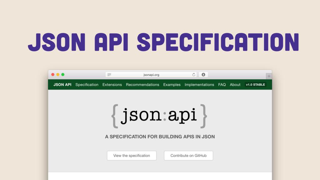 JSON API specification