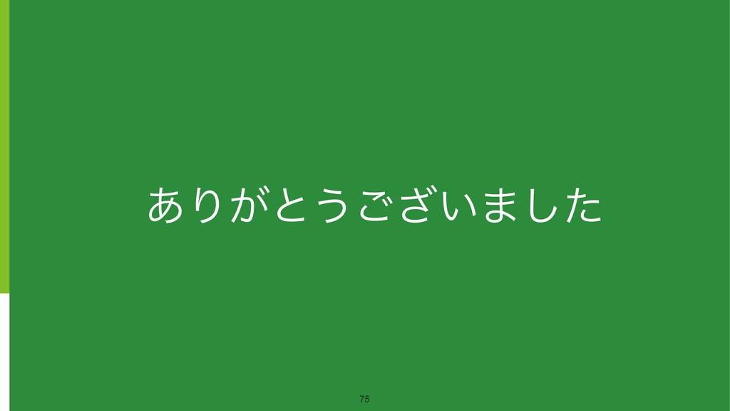 ͋Γ͕ͱ͏͍͟͝·ͨ͠ !75