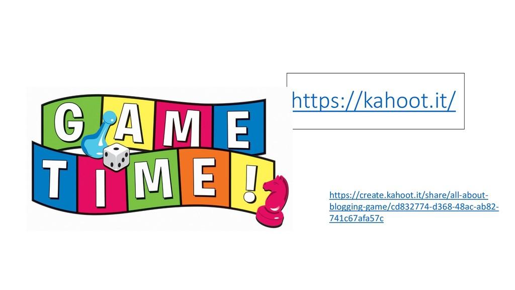 https://kahoot.it/ https://create.kahoot.it/sha...