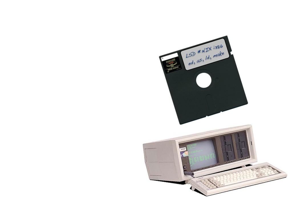 LSD *NIX i386 ed, as, ld, make