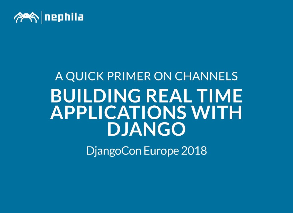 A QUICK PRIMER ON CHANNELS A QUICK PRIMER ON CH...