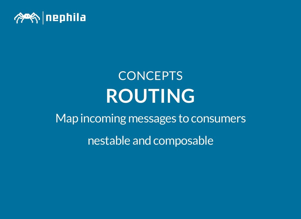 CONCEPTS CONCEPTS ROUTING ROUTING Map incoming ...