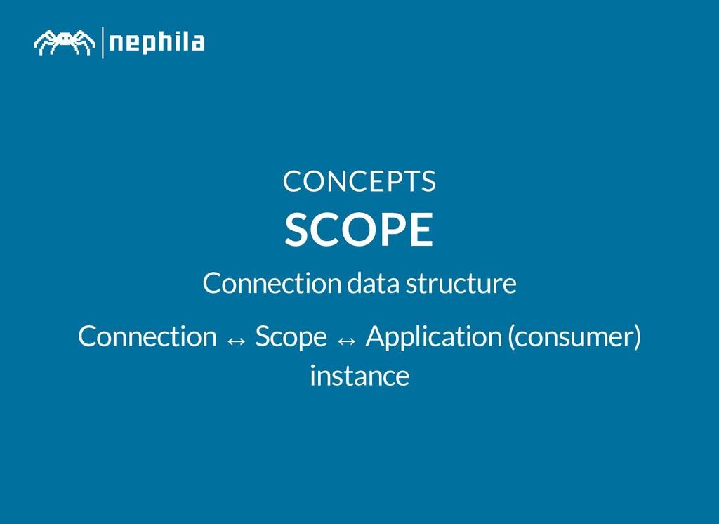 CONCEPTS CONCEPTS SCOPE SCOPE Connection data s...