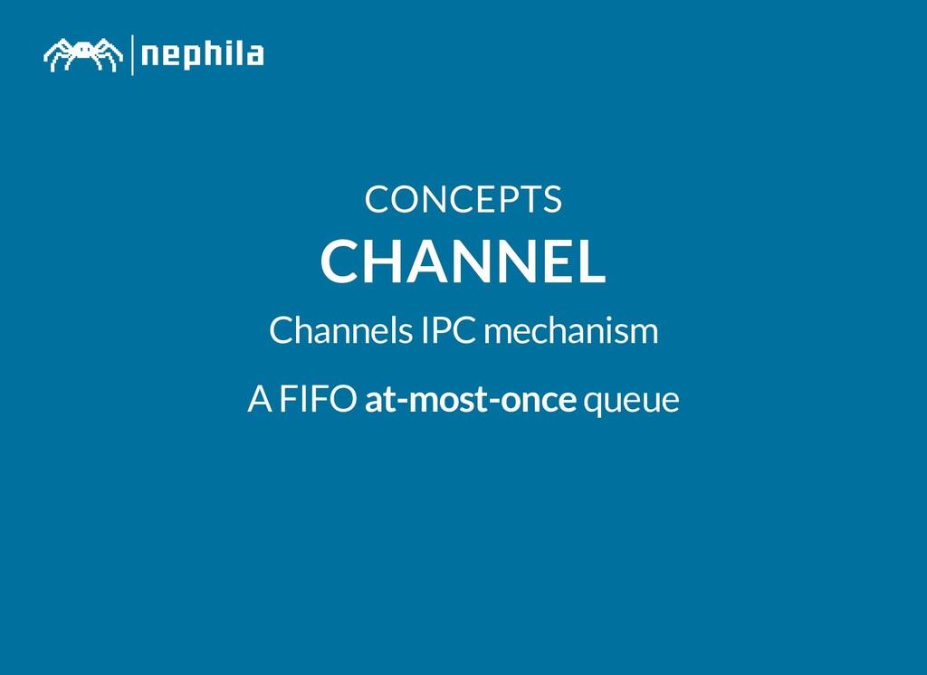 CONCEPTS CONCEPTS CHANNEL CHANNEL Channels IPC ...