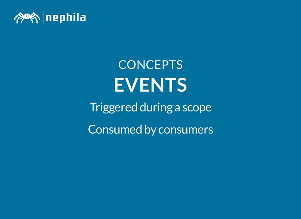 CONCEPTS CONCEPTS EVENTS EVENTS Triggered durin...