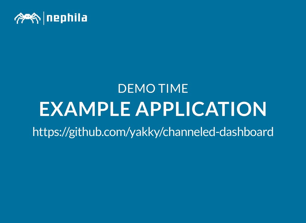 DEMO TIME DEMO TIME EXAMPLE APPLICATION EXAMPLE...