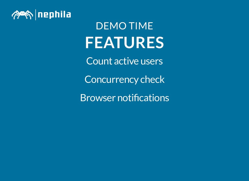 DEMO TIME DEMO TIME FEATURES FEATURES Count act...