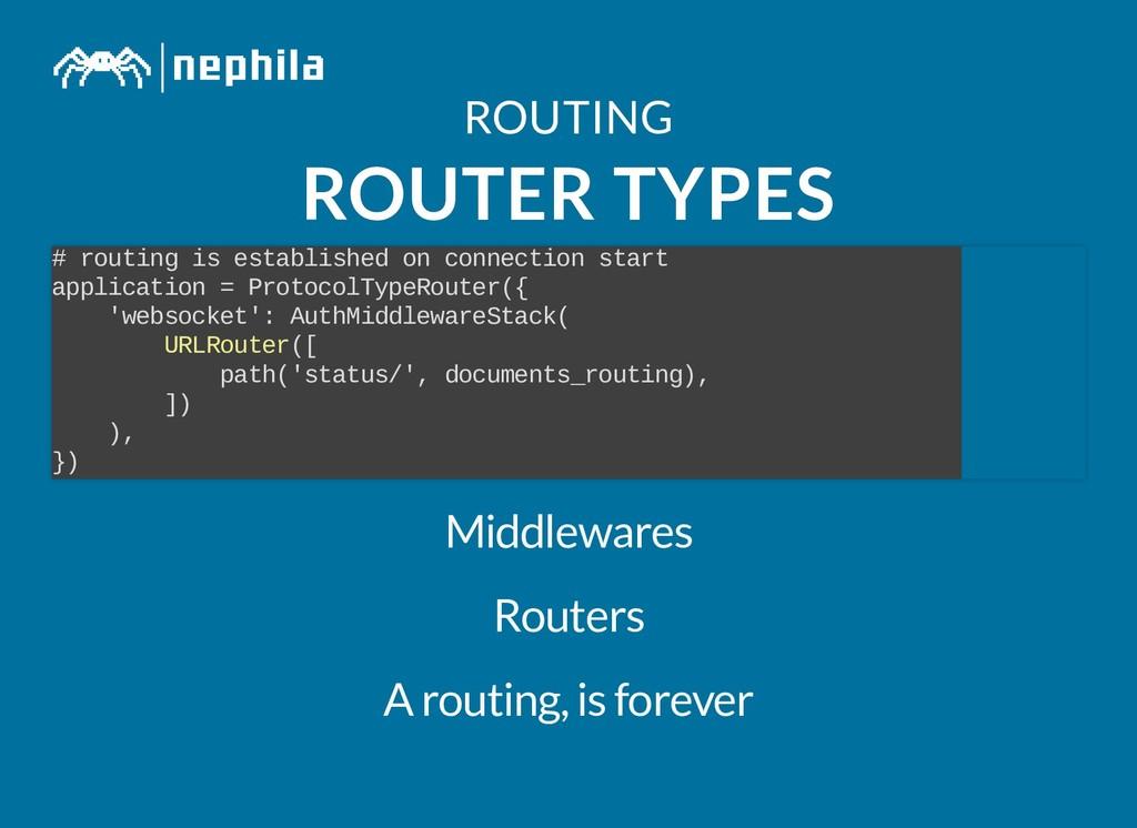 ROUTING ROUTING ROUTER TYPES ROUTER TYPES # rou...