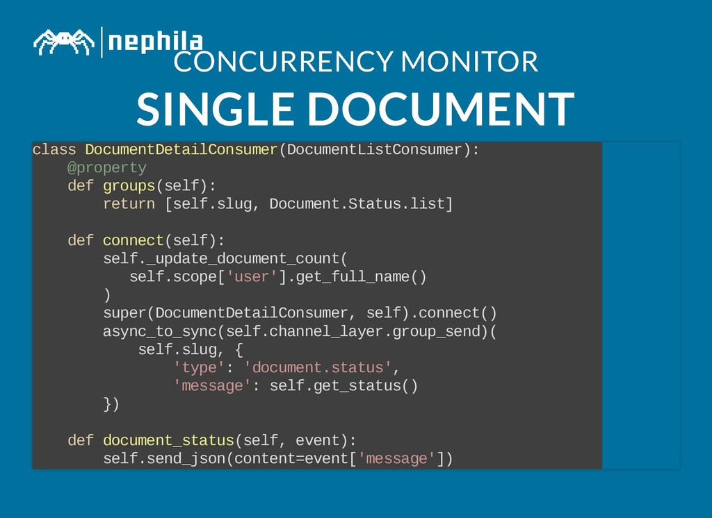CONCURRENCY MONITOR CONCURRENCY MONITOR SINGLE ...