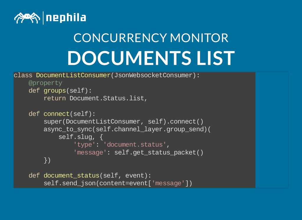 CONCURRENCY MONITOR CONCURRENCY MONITOR DOCUMEN...