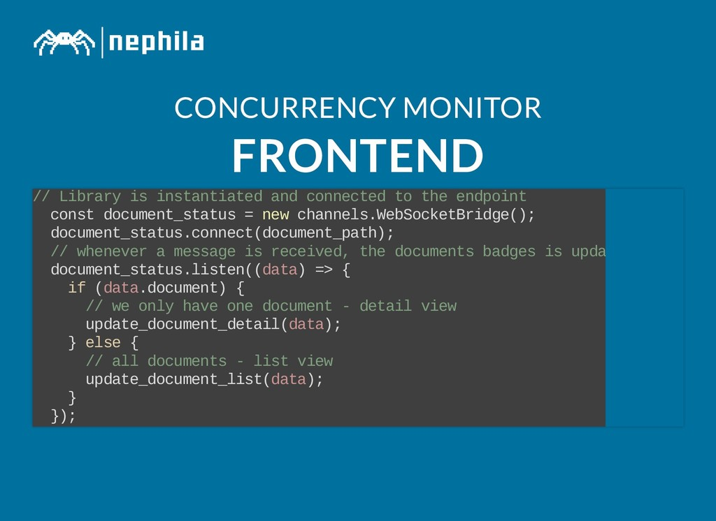 CONCURRENCY MONITOR CONCURRENCY MONITOR FRONTEN...